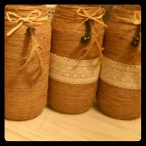 Large hand made jars